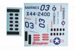 Marine-Dekorbogen zuX44 Graupner 9944.142