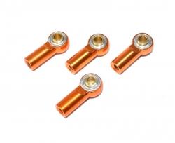 Aluminium Kugelpfannen inkl. Kugelkopf (4 St.) orange 1:10 Absima 2330031