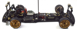 Aluminium Magnet Karosseriehalterung - Set v/h schwarz Absima 2440041
