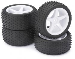Räderset Buggy 5-Speichen / Dirt weiß 1:10 (4 St.) Absima 2500006