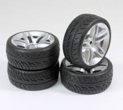 Räderset Onroad 10-Speichen / Profil silber 1:10 (4 St.) Absima 2510005