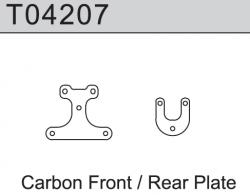 Carbon Oberdeck vorne / hinten TM4V2 1:10 4WD Comp. Buggy Absima T04207