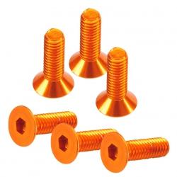 3x10mm Innensechskantschraube Senkkopf orange (6 St.) Absima TU1039