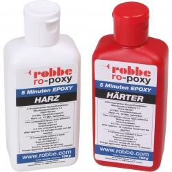 RO-POXY 5 MINUTEN EPOXYDHARZKLEBER 200G JE 100G HARZ+H?RTER Robbe 50601