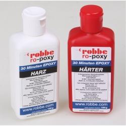 RO-POXY 30 MINUTEN EPOXYDHARZKLEBER 200G JE 100G HARZ+H?RTER Robbe 50606