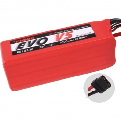RO-POWER EVO V5 25(50)C 22,2 VOLT 6S 4000MAH LIPO AKKU Robbe 6545