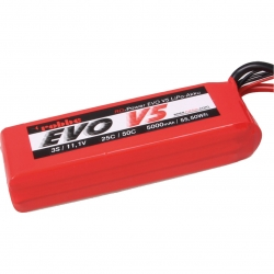 RO-POWER EVO V5 25(50)C 11,1 VOLT 3S 5000MAH LIPO AKKU Robbe 6546