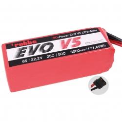 RO-POWER EVO V5 25(50)C 22,2 VOLT 6S 8000MAH LIPO AKKU Robbe 6583