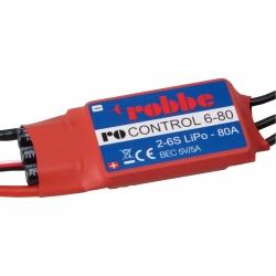 RO-CONTROL 6-80 2-6S -80(100A) BRUSHLESS REGLER 5V/5A SCHALT-BEC Robbe 8710
