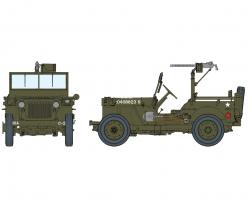 1:6 1/4Ton4x4 Truck w/.30-cal MachineGun Carson 75050 500075050