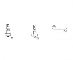 Bremshebelset,CY-Chassis Carson 205478
