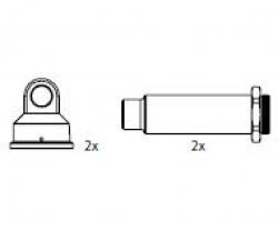 Dämpfergehäuse, hinten (2) CY Carson 205749 500205749