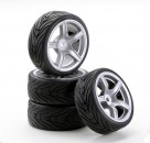 1:10 SC-Räder AMC Style silber (4) Carson 900534 500900534