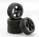 1:10 SC-Räder 6S Style schwarz (4) Carson 900543 500900543