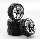 1:10 SC-Räder AMC Style ch./schwarz (4) Carson 900545 500900545