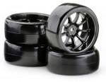 1:10 Drift Räderset OND 9 Sp.schw.(4) Carson 900614 500900614
