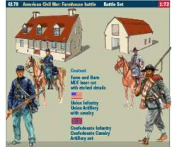 1:72 American Civil War:Farmhouse battle Carson 6179 510006179