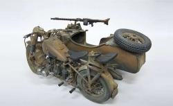 1:9 Deut.Militärmotorrad mit Seitenwagen Carson 7403 510007403