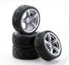 1:10 SC-Räder F12 Style silber (4) Carson 4900031 554900031