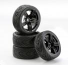1:10 SC-Räder 6S Style schwarz (4) Carson 4900043 554900043