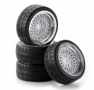 1:10 SC-Räder Classic Style ch/weiss (4) Carson 4900055 554900055