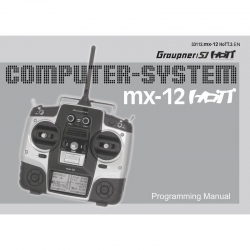 Handbuch mx-12 englisch Graupner DZ33112.EN