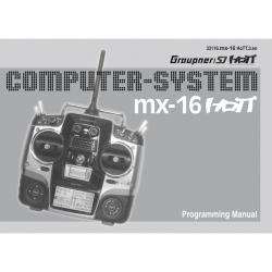 Handbuch mx-16 englisch Graupner DZ33116.EN