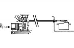 Gaszug-Set DuBro F-DB3105