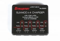 USB Ladegerät SLIM 400 x4 4x Graupner S2023