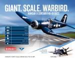 Hangar 9 F4U-1D Corsair 60cc ARF (3 Boxen) Horizon HAN4760