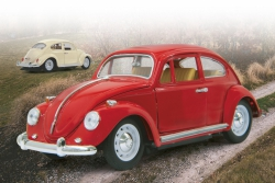 VW Käfer 1:18 RC Die Cast Rot 27MHz Jamara 405110