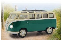 VW T1 Bus 1:24 Diecast grün LED Sound Rückzugmotor Jamara 405146
