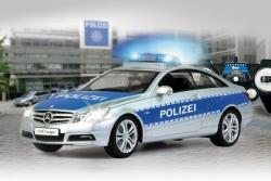 Mercedes E350 Coupe 1:16 Polizei 2,4 GHZ Jamara 410023