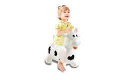 Hüpftier Kuh weiß-schwarz mit Pumpe Jamara 460318