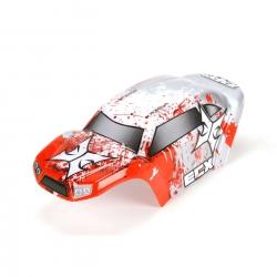 Body Set, Decorated, Red/White: 1:24 Temper Horizon ECX200008
