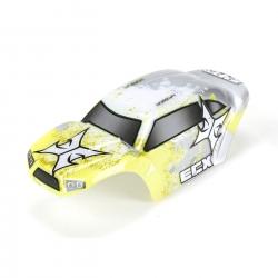 Body Set, Decorated, Yellow/White: 1:24 Temper Horizon ECX200009