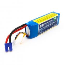 E-flite 3S 11,1V 3000mAh 30C LiPo-Akku m. EC3-Stecker Horizon EFLB30003S30