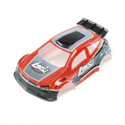 Losi 1/24 4WD Micro Rally X Body lackiert rot Horizon LOS200001