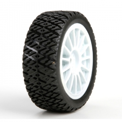 Losi Gravel Spec Reifen vorne/hinten, montiert (2 Stk): Mini Rally Horizon LOS41006