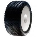 Losi Truggy Reifen verklebt weiße Felge 0 0ffset blaue Mischung Horizon LOSA17701B