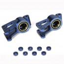 Losi Aluminium Radträger Hinten (2)/ Blau: 5T Horizon LOSB2094