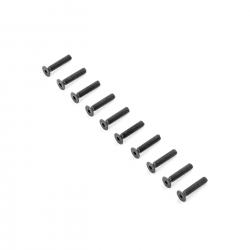 TLR Flachkopfschrauben M4x20 mm (10 Stk) Horizon TLR255014