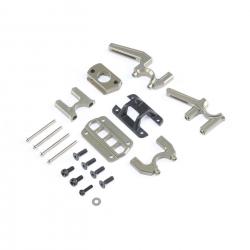 TLR Differenzialhalterung mittel, Aluminum: 8E/8TE 3.0/4.0 Horizon TLR341006