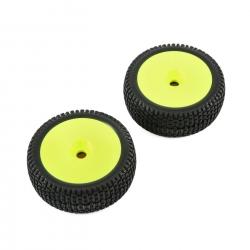 TLR Reifen mit Felgen (gelb) (2 Stk.): 5IVE-B Horizon TLR45004