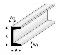 ASA U-Profil 4x8x330 mm (5) Krick rb412-58-3
