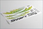 Dekorbogen Swift, gruen Hype Kyosho 018-1113
