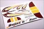 Dekorbogen rot-gelb Hype Kyosho 029-1017