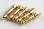 4mm GOLD Stecker (100 Stueck) Hype Kyosho 082-6165