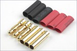 Goldkontaktstecker 4mm 3 Paar Hype Kyosho 086-1040