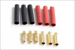 Goldkontaktstecker 4mm 3 Paar Hype Kyosho 086-1041